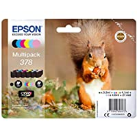 Epson EP64647 378 Squirrel Multipack Inkjet Cartridge, Multi-Colour, Pack of 6