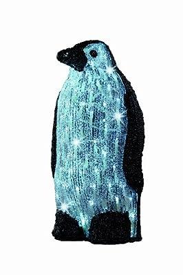 Kaemingk LED Acryl Pinguin, Außen, 40 cm, 80 Lichter, transparentes Kabel, kaltweiße Dioden 492095 von Kaemingk B.V. bei Lampenhans.de