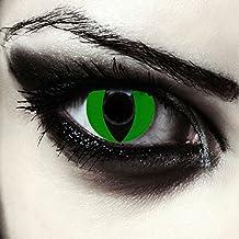 """Lentillas de colores verde para Halloween costume ojo de gato / dragón lentes verdes sin dioprtías / corregir + gratis caso de lente """"Green Cat eye"""""""