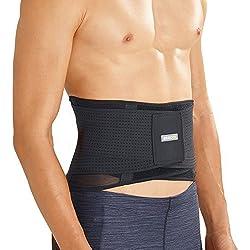 BRACOO BP60 atmungsaktive Rückenbandage - Rückenstabilisator - breite Rückenstütze - Lumbalbandage für Damen und Herren - M