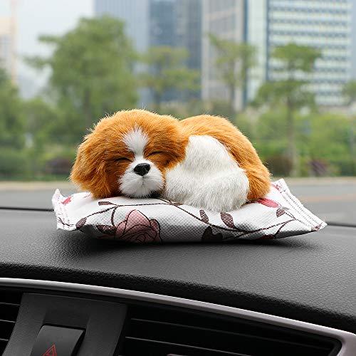 kgftdk Auto Ornamente Netter Hund Puppe Lufterfrischer Reinigen Hause Auto Dekoration Welpen Adsorbieren Geruch Deodorant Bambuskohle -