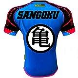 Maillot Thailande - Sangoku - Bleu avec motifs colorés, taille  S
