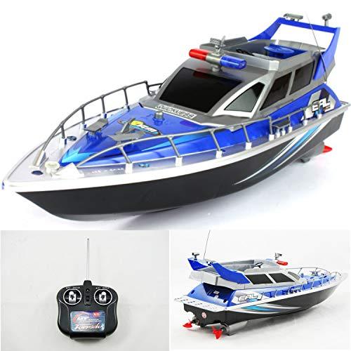 Diawell RC ferngesteuertes Polizeiboot Polizeischiff Polizei Boot Schiff 43 cm Lang inkl. Akku