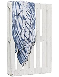 Montse Interiors Toalla Pareo Playa Reversible Tejida (Blue-1)