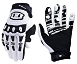 Seibertron Dirtpaw Unisex Rutschfeste Bike Bicycle Cycling/Radsport Racing Mountainbike Handschuhe für BMX MX ATV MTB Motorcycle Motocross Motorbike Road Off-Road Race Touch Screen Gloves Weiß M