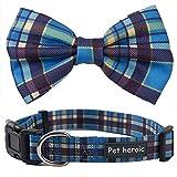Pet Heroic Hundehalsband als Fliege | Anpassbares & Komfortables Hundeband | Small, Medium und Large | 3 Verschiedene Styles | Halsband für Katzen geeignet