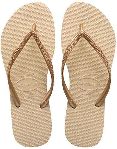 Havaianas 4000030, Infradito Donna, Beige (Sand Grey/Light Golden), 37/38 EU (35/36 BR)