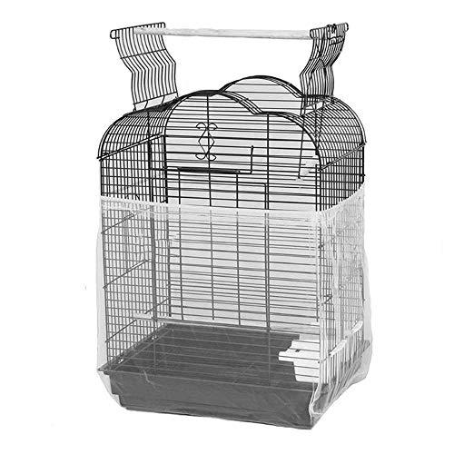 ASOCEA - Cubierta Universal para Jaula de pájaros, Malla de Nailon, Color Blanco