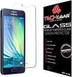 TECHGEAR® Samsung Galaxy A3 (SM-A300 Series) GLASS Edition Genuine Tempered Glass Screen Protector Guard Cover (for 2015 released Galaxy A3 only)
