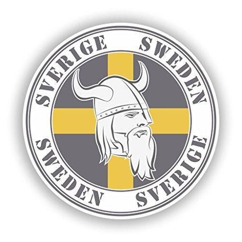Preisvergleich Produktbild 2 x Sverige Schweden Vinyl Aufkleber Reise Gepäck 7755 - 30cm / 300mm Wide