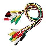 BUZIFU 30 Piezas Pinzas de Cocodrilo con Cable 5 Colores Diferentes Cables de Prueba y Clip de Cocodrilo para Pequeñas Pruebas Electricidad, como Multimetro, Junta de PCB