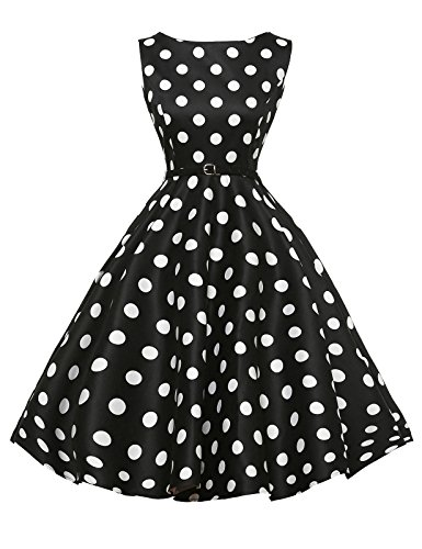 damenkleider festlich 50s vintage retro rockabilly kleid petticoat kleid abschlussballkleid Größe L CL6086-8