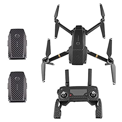 TELESIN Mavic Pro Waterproof Skin Sticker Full Set of Carbon Fiber Wrap Skin Decals Stickers Accessories For DJI Mavic Pro Drone Body?Remote Controller and Batteries