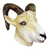 ycmjh Maschera di Pecora realistica Antilope Animale Pieno di Capra Maschera di Lattice Fatto a Mano