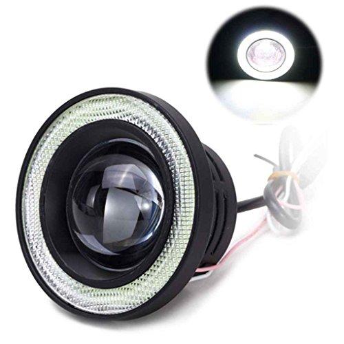 Masterein 2ST 3200LM Auto Cob LED-Engels-Augen-Nebel-Licht-Objektiv-Projektor Halo-Ring Xenon-Nebel-Lampe