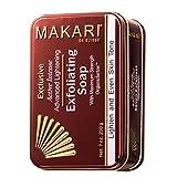 Makari Exclusive Savon Éclaircissant et Exfoliant (7 oz.) à base d'Organiclarine – Soins éclaircissants anti-taches, cicatrices acnéiques, vergetures et hyperpigmentation.