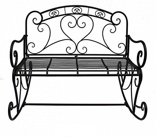 Stilvolle und elegante Schaukelbank aus Metall, mit wunderschönen Ornamenten