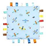 Cartellino Bimbo Blu, copertina con cartellini - cartellino blu con aerei, copertina con cartellini, lato inferiore a rilievo blu