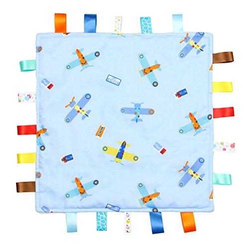 Blau mit Flugzeugen, taggy Decke blau - einfach strukturierten Unterseite (König Tröster Fleece)