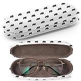 Hardcase Brillenetui Sonnenbrillenetui Brillenbox Kunststof Clamshell-Art-Brillen-Fall mit Brille-Reinigungstuch (Gamepad Repairrepeating Any)