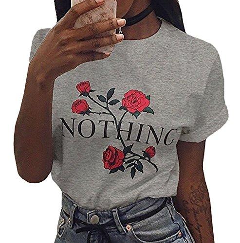 Shelers Girl Power T-Shirt Feminismus Hemd 100% Baumwolle Kurzarm Unisex Slogan Spruch Damen T-Shirt Tops Bluse Dunkelgrau