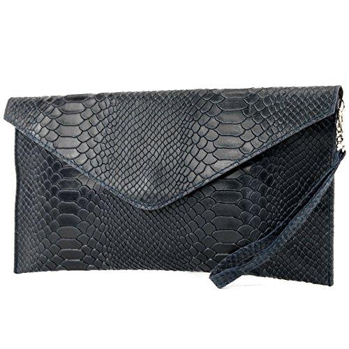 modamoda de - Made in Italy , Pochette pour femme Klein bleu foncé