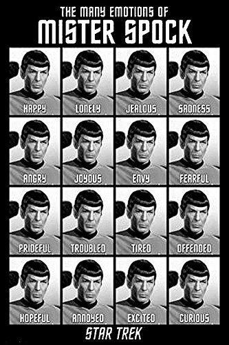Star Trek Classics Poster the Many Emotions of Mr.