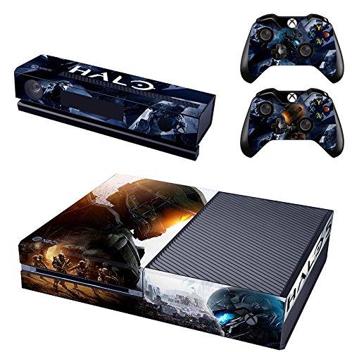 Preisvergleich Produktbild XBox One und Kamera + 2 Controller Aufkleber Schutzfolie Set - Halo 5 (1) / XBox One