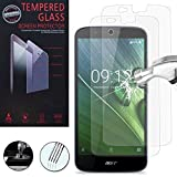 VCOMP® Lot 2 Films Vitre Verre Trempé de Protection d'écran pour Acer Liquid Zest Plus Z628 - Transparent