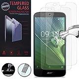 VCOMP Lot 2 Films Vitre Verre Trempé de protection d'écran pour Acer Liquid Zest Plus Z628 - TRANSPARENT