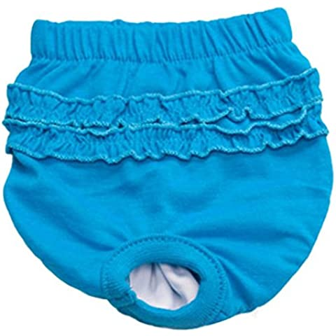 Pantalones para Sanitarias perro mascota,RETUROM Nueva perro de mascota populares Panty Breve Perra En Pantalones sanitarios de la temporada para la muchacha femenina (XS, Azul)