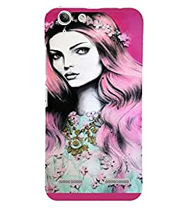 PrintVisa Beautiful Girl Art 3D Hard Polycarbonate Designer Back Case Cover for Lenovo Vibe K5 Plus