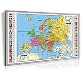 Pinnwand Europa politisch Deluxe 90 x 60 cm, im Alurahmen