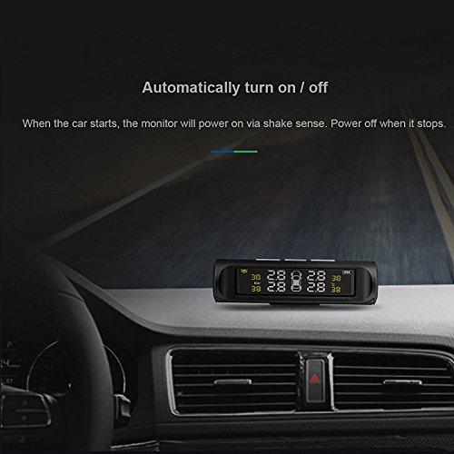 SODIAL-Esposizione-LCD-senza-fili-del-sistema-di-allarme-del-monitor-di-pressione-della-gomma-dellautomobile-di-potere-solare-TPMS