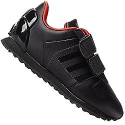 adidas Originals ZX 700 Kinder Star Wars Darth Vader Sneaker Schuhe SCHWARZ ROT, Farbe:Schwarz, Schuhgröße:EUR 21