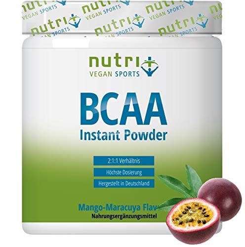 BCAA PULVER Mango Maracuja - Amino Complex hochdosiert - BCAAs Instant Powder - beste Löslichkeit & sensationeller Geschmack - 300g - Aminosäure Mix - hergestellt in Deutschland
