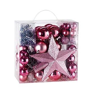 Deuba-Weihnachtskugeln-Rot-77-Christbaumschmuck-Aufhnger-Christbaumkugeln-fr-den-Weihnachtsbaum-Weihnachtsbaumschmuck-Weihnachtsbaumkugeln
