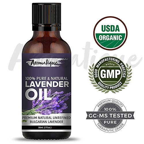 Lavender Essential Oil For Skin Care and Hair Growth 100% Pure and Natural Therapeutic Grade from Aromatique (USDA Certified Organic) (30)