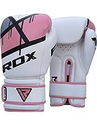 RDX Maya Cuero Mujer Guantes Boxeo Saco Sparring Entrenamiento Mitones Muay Thai Kick Boxing