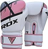 RDX Herren BGR-F7P-12oz Kunstleder Damen Training Boxhandschuhe, Rosa, 12oz