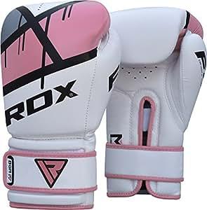 RDX Uomo BGR-F7P-12oz in Eco Pelle Guantoni da boxe da allenamento da donna, Rosa, 12oz