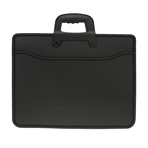Borsa porta documenti Unisex in tessuto Borsa a mano per ufficio commerciale per computer portatile e riviste, classificatore A4Documenti grande capacità per uomo