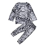 Beaulies Children Children Corduroy Casual Clothing Set Girl 2pcs Long Sleeve Tops Pants Suit (1-2T)