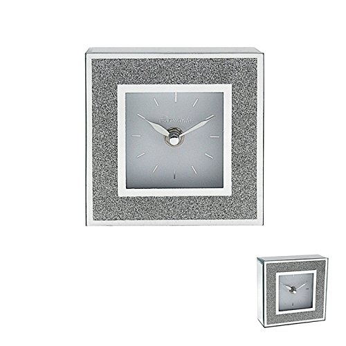 Leonardo Glitzer Silber Spiegel & Rahmen Mantel Uhr Bling modernes