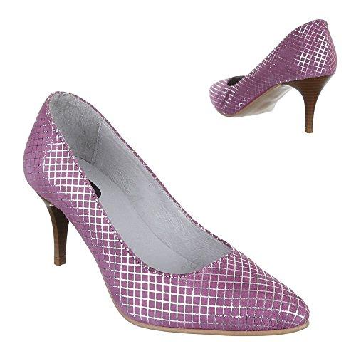 Ital-Design - Scarpe con Tacco Donna Viola (lilla)