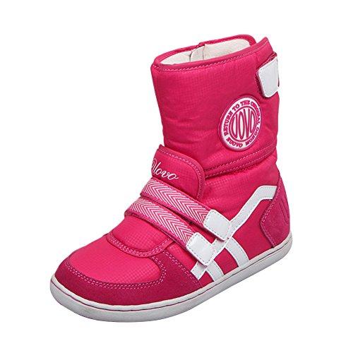 chengniu Filles Bottes de Neige pour Enfant Chaud Hiver Chaussures Fille Bébé Fourrure Doublé Antidérapant Sole souple Bottes d'hiver Rose