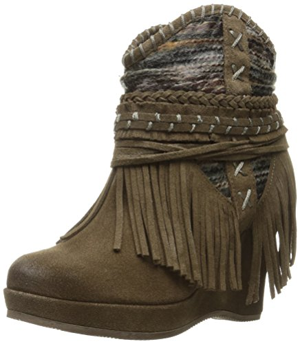 Naughty Monkey Women's Canyon Dream Ankle Bootie, Taupe, 6 M US