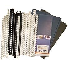 Starterset für Plastikbindegerät - 155 Teile - Binderücken, Deckelfolien, Einbanddeckel.