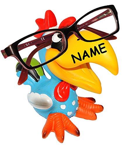 alles-meine.de GmbH Brillenhalter -  Lustiger Vogel - Tukan / Papagei Ara / Hahn - Gockel  - inc..