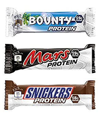 Mars, Snickers & Bounty Protein Bars (Mixed Box) - 12 Bars from Mars Protein